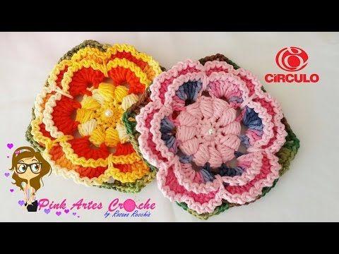 FLOR ELIZETE - Pink Artes Croche -by Rosana Recchia - YouTube ...