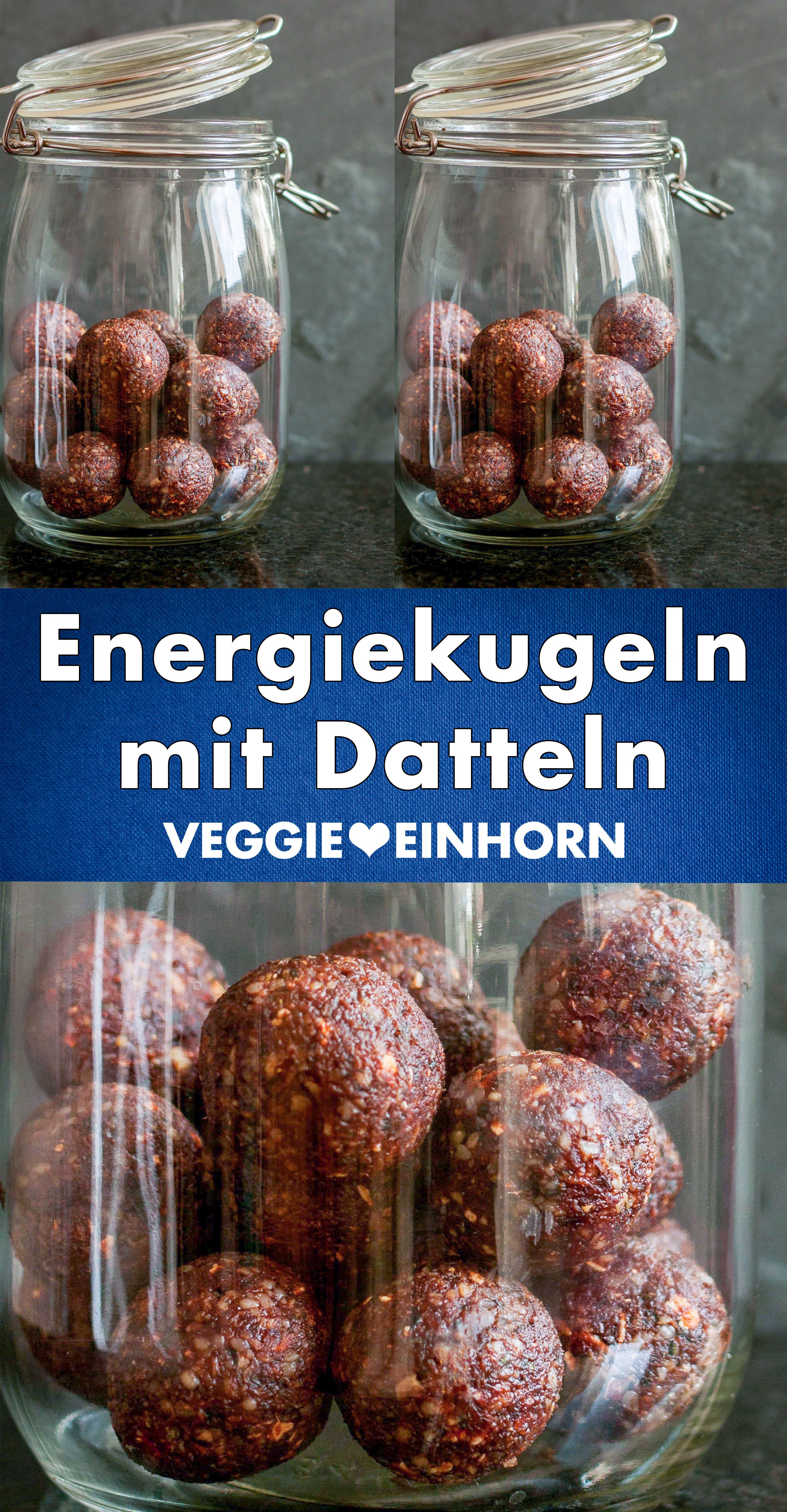 Energiekugeln mit Datteln | Einfaches Rezept ohne
