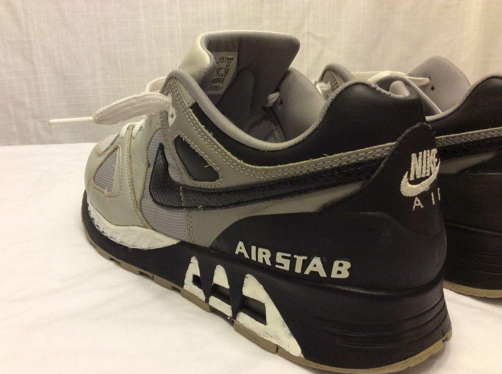 6fa685ba5442c ... Nike Air STAB Mens size 12 Shoes Leather Upper BlackGrayWhite Nike ...