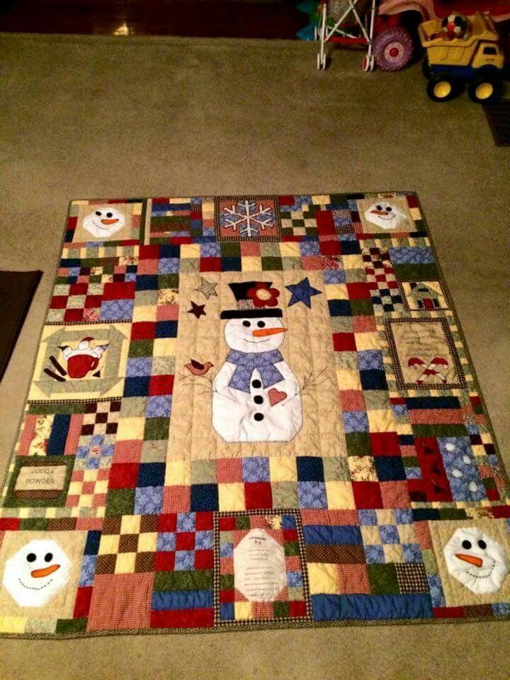 Snow man quilt   Christmas quilts   Pinterest   Man quilt, Snow ... : men quilting - Adamdwight.com
