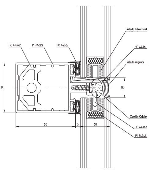 Detalle carpinteria fija buscar con google arq - Detalle carpinteria aluminio ...