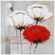 Peinture Acrylique Fleurs Modernes Recherche Google En