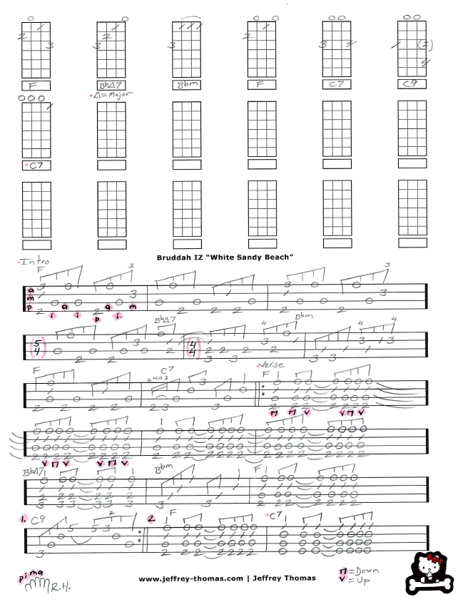 Learn To Play White Sandy Beach By Israel Kamakawiwoole Or