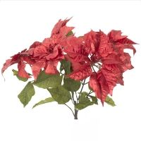 Bouquet De Poinsettias Rouges 22 5 Christmas Flowers Poinsettia Artificial Flowers
