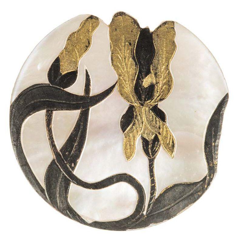 Bouton art nouveau vers 1900 m tal nacre les arts d coratifs paris photo patrick - Les arts decoratif paris ...