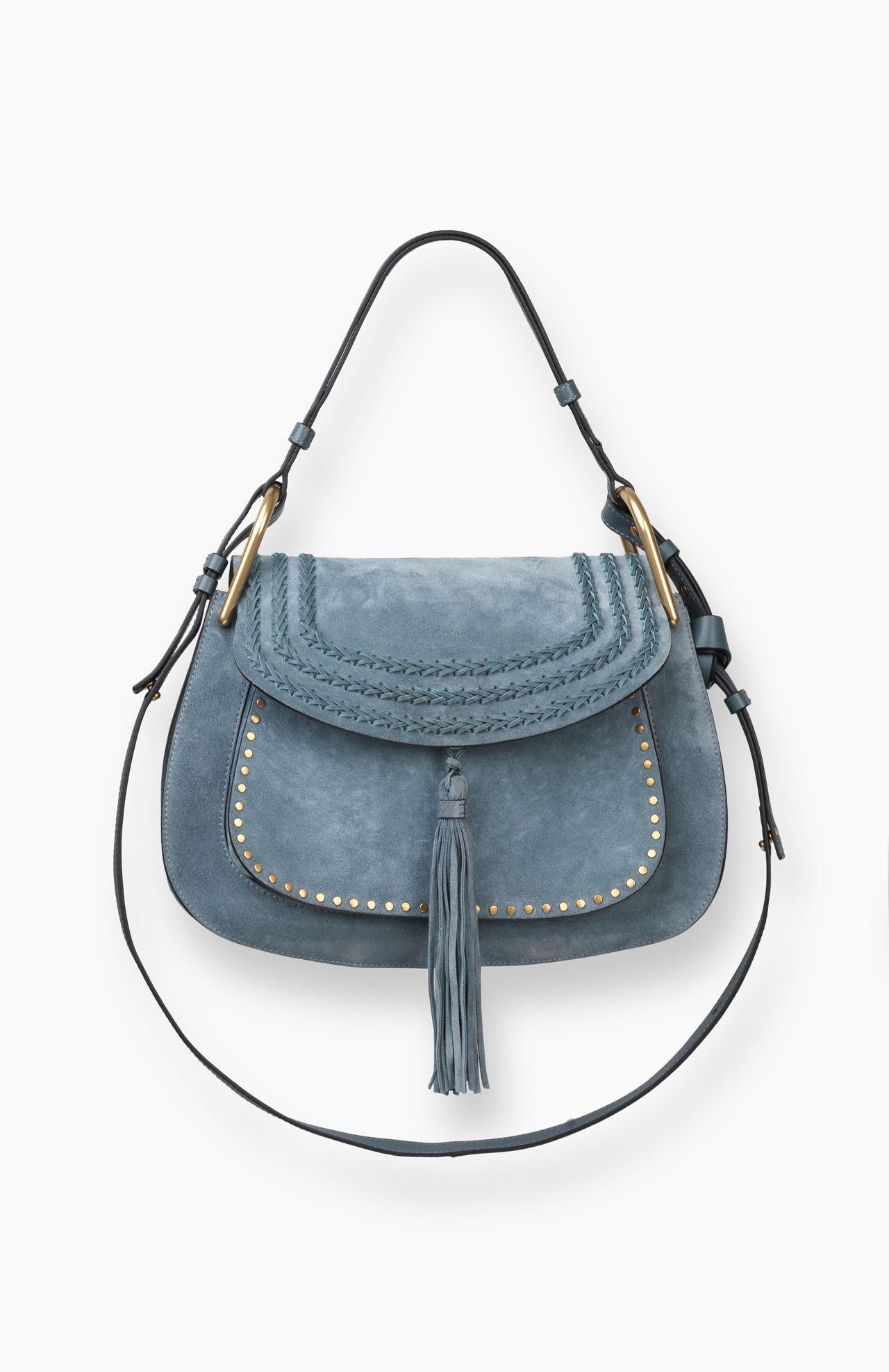 d5ad019edbfa 3S1221-H67-BFC Chloe Hudson Large Suede Bag! Cloudy Blue!❤ ❤️