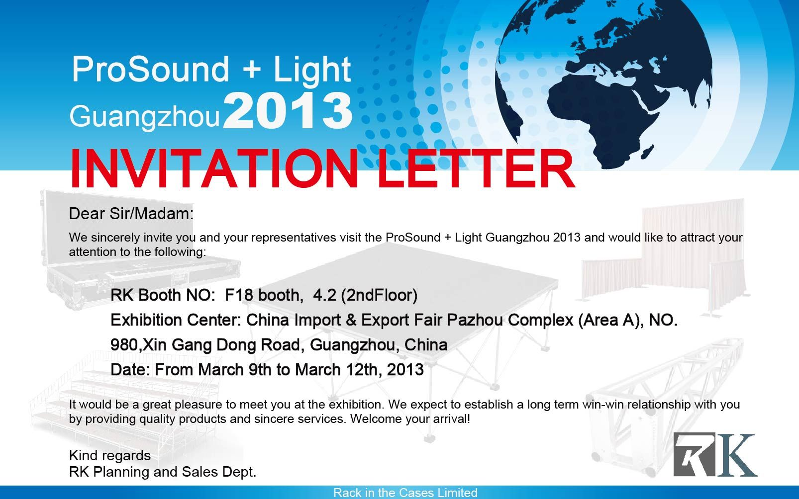 Invitation For Exhibition Booth : Event invitation letter template