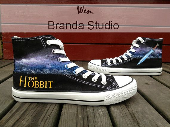 Lord of the Rings Hobbit Shoes Studio Hand Painted Shoes