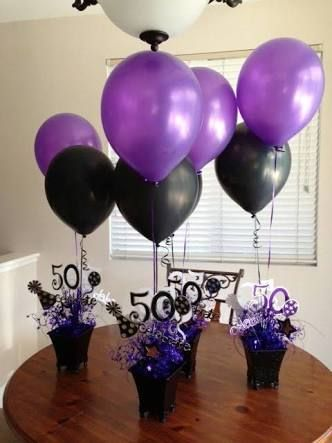 Image Result For Red Black And White 50th Birthday Diy Decorations Centerpieces