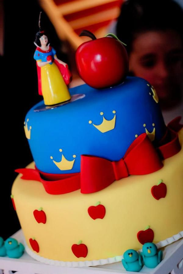 Snow white party supplies idea planning birthday cake favors | Once ...