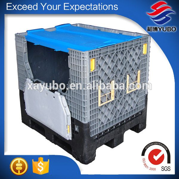 Large Collapsible Plastic Pallet Container