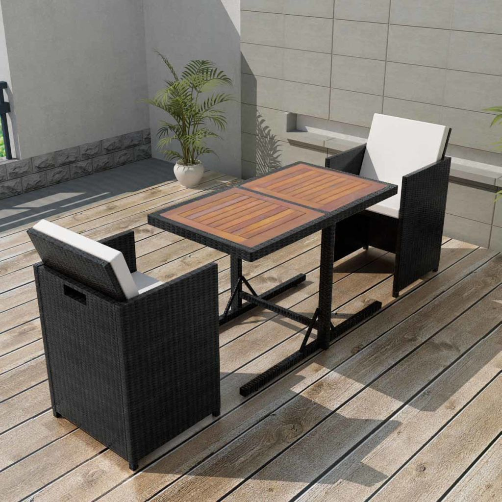 Rattan Balkonset Garden Set Poly Rattan Black 7 Pieces Products In 2018