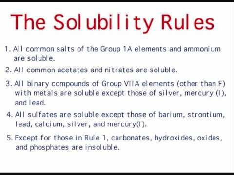 Image result for solubility rules | Chemistry | Pinterest | Search