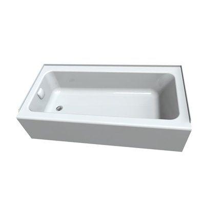 Shop American Standard Sonoma White Acrylic Rectangular Alcove Bathtub With  Left Hand Drain (Common: X Actual: X X At Loweu0027s Canada.