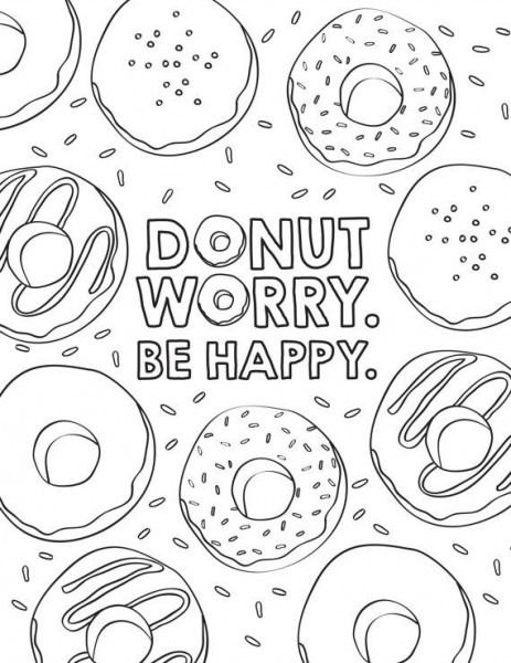 Party Coloring Sheet Birthday Coloring Pages Quote Coloring Pages Donut Coloring Page