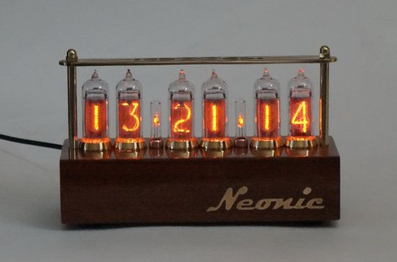 Fallout Steampunk Vintage Assembled NOS IN-14 With Tubes Nixie Tube Clock
