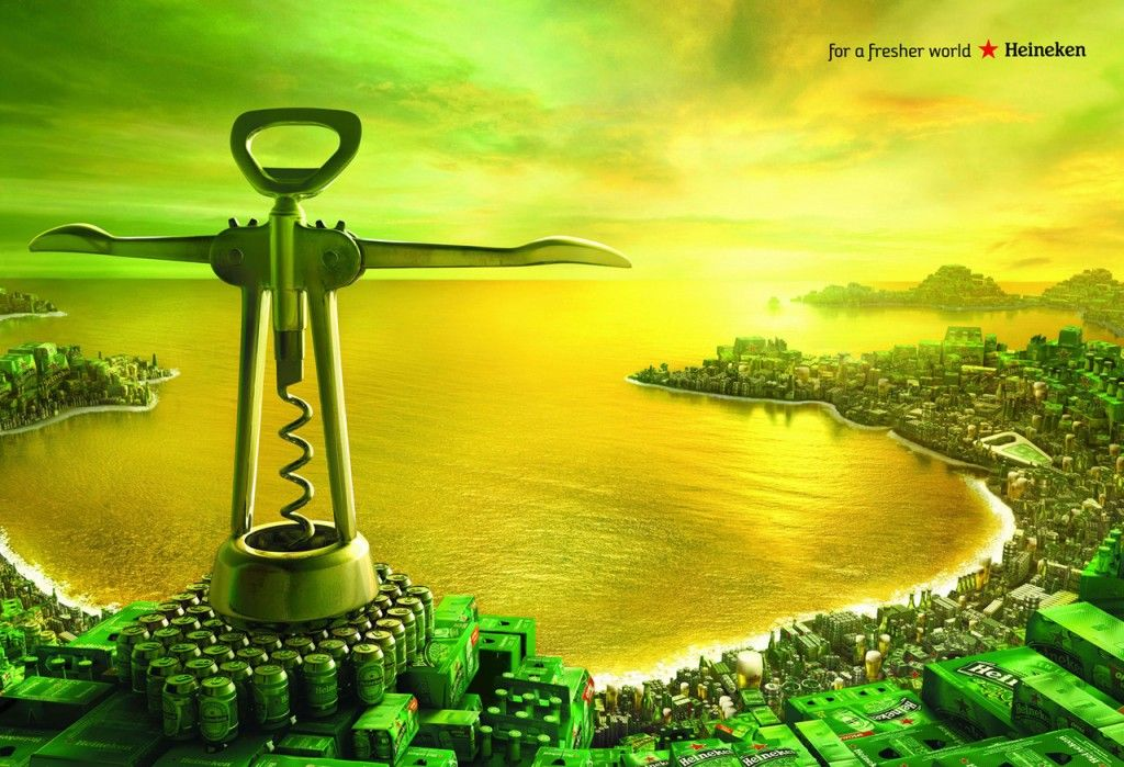 For a fresher world. #Heineken Ads by Publicis Conseil
