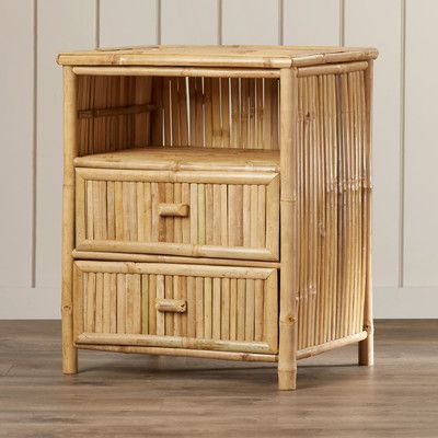 Bamboo54 Slimmer Nightstand with Drawer Brown