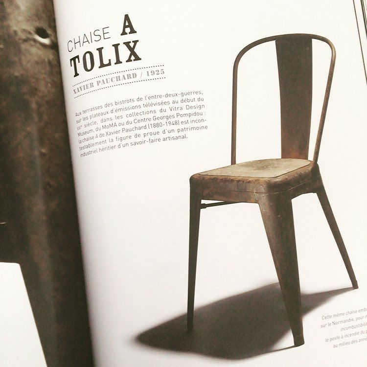 REAL THING Chaise A The Original Tolix Chair Was Designed In 1925 By Xavier Pauchard Autun France Originaldesign Saynotoreplicas
