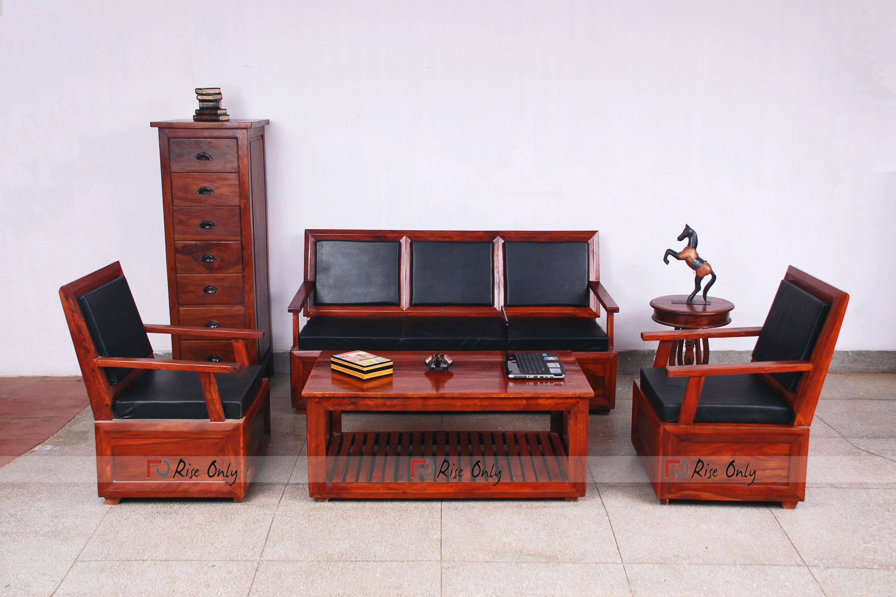 Living Room Theme Based Wooden Sofa Set Will Make Your Room More