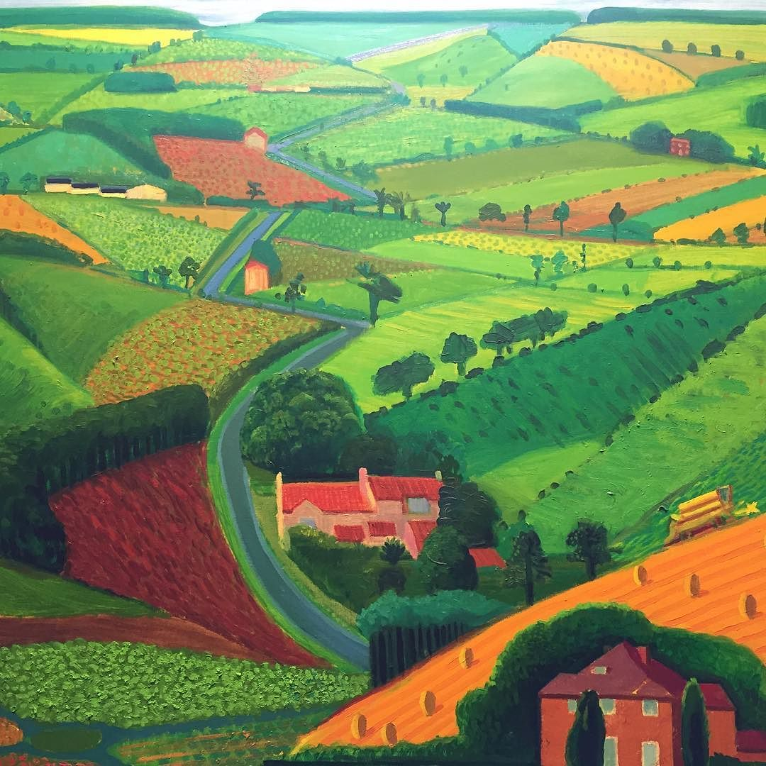 I've been a bit quiet on here this week as its half term in the UK......... Today I'm going to share one of David Hockney's paintings from our trip to Salts Mill in Saltaire.......... Very Yorkshire!............ X #davidhockney #loveart #creativelifehappylife