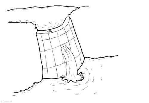 Dibujo para colorear Energía hidráulica - presa | ciencia | Pinterest