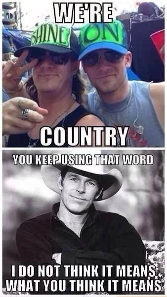 Ugh!!! This couldn't be more true! I love COUNTRY music