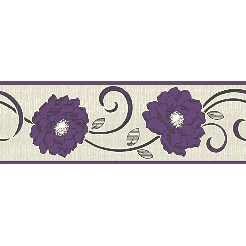 Purple wallpaper borders best wallpaper hd for Purple kitchen wallpaper