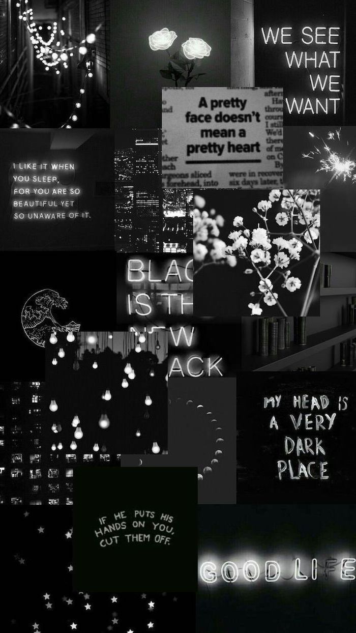 Black Aesthetic Wallpaper Collage