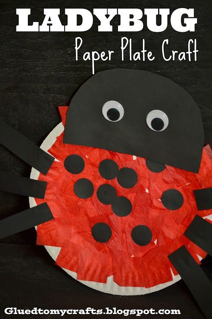Ladybug Paper Plate Craft - Great for children of all ages! & Paper Plate Ladybug Kid Craft | Paper plate crafts Ladybird and Child