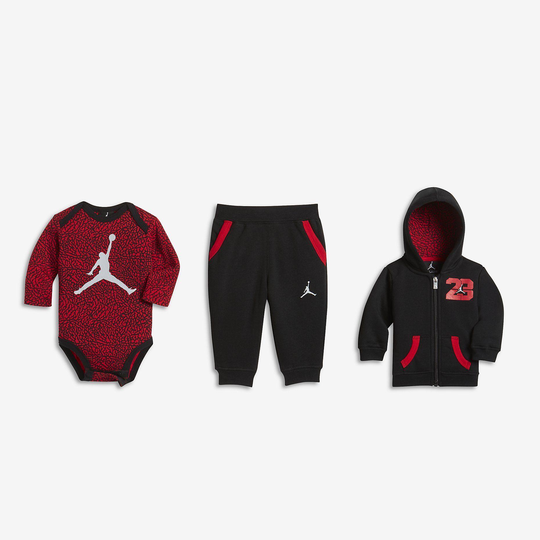 Jordan 23 Three Piece Conjunto Bebé Nike Com Es Toddler Outfits Sweatpants Jordans