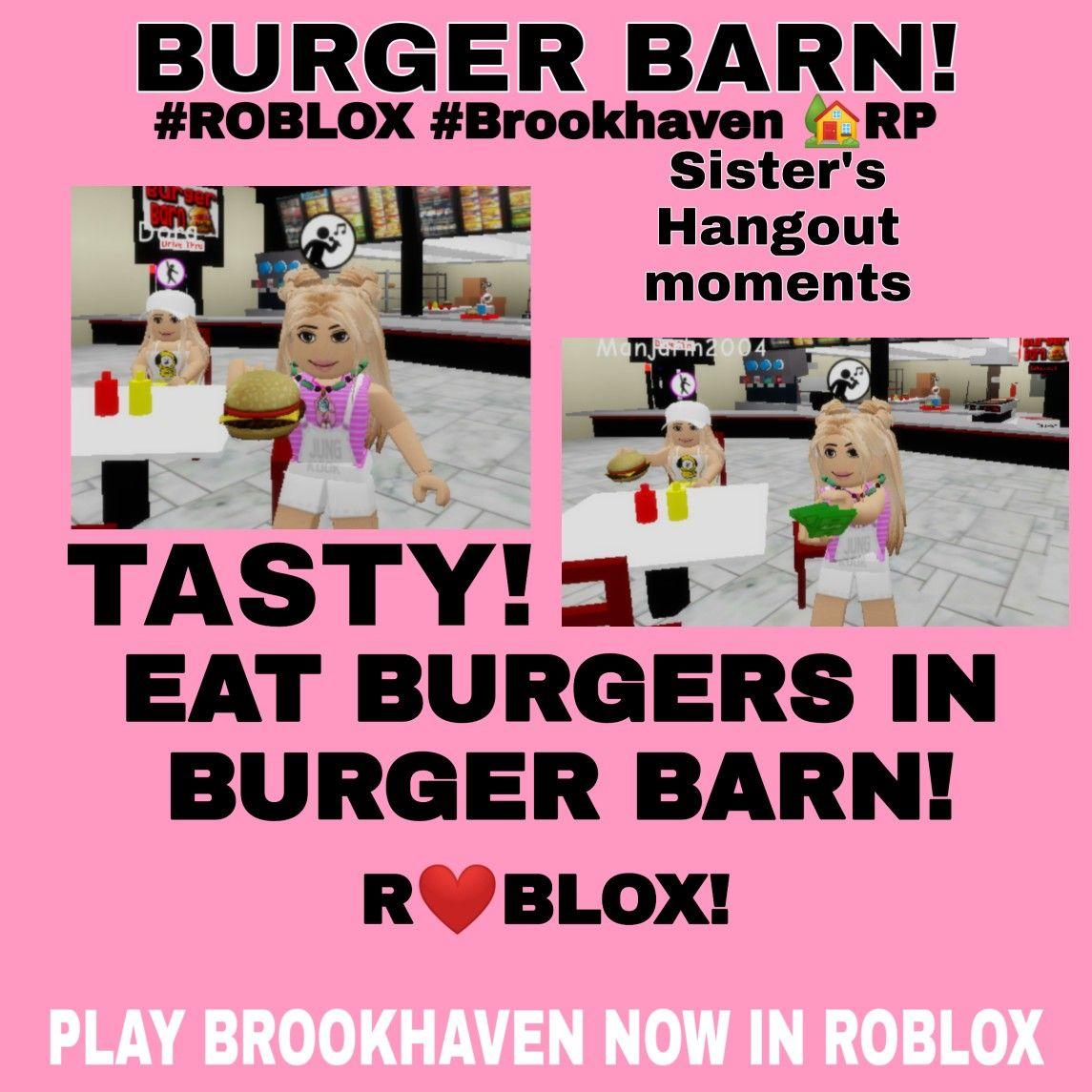 Burger Barn In Roblox Brookhaven Rp Brookhaven Roblox Burger Barn