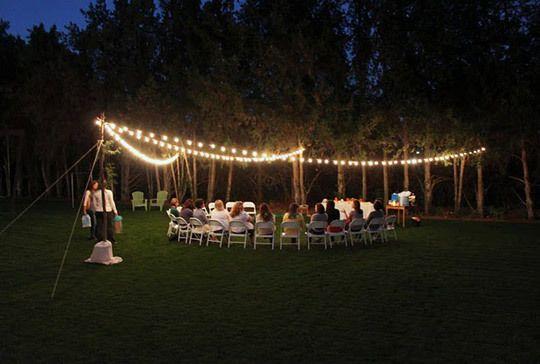 outdoor evening baby shower | Outdoor baby shower