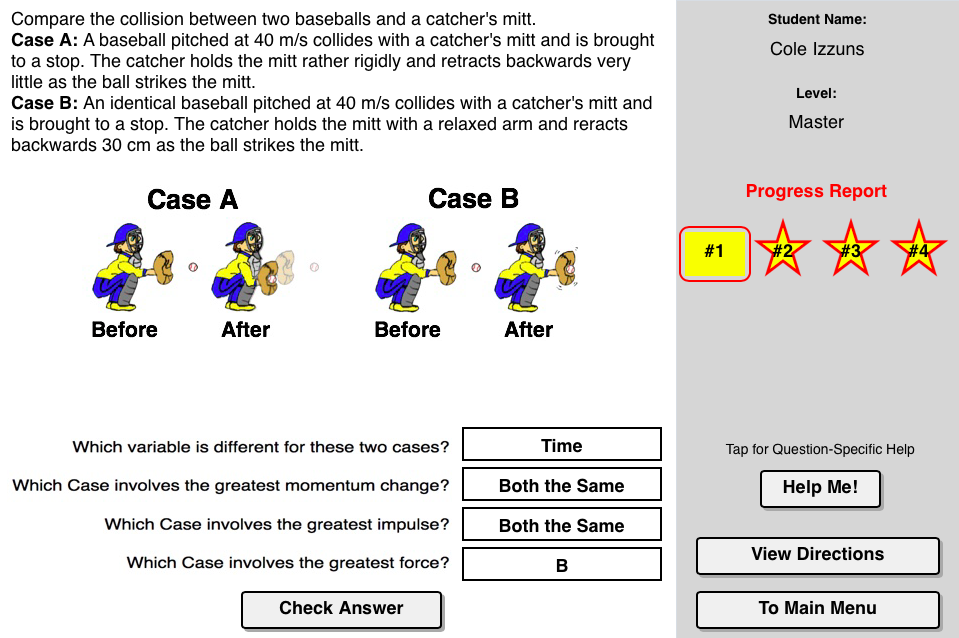 Case Studies: Impulse and Force Concept Builder: designed to help ...
