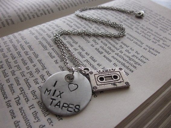 mix tape necklace, I would SO wear this!