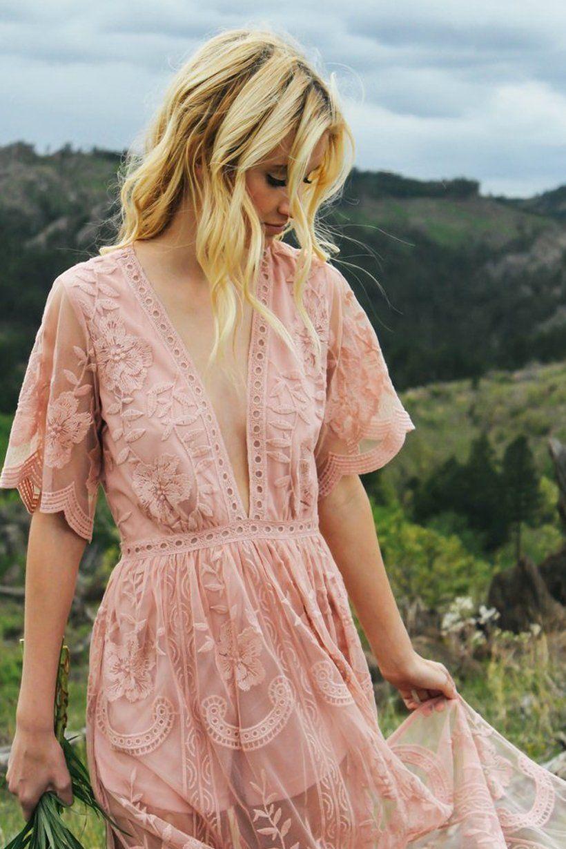92fa2354b587 Gemma Blush Lace Maxi Dress. Pretty Lace Dresses ...