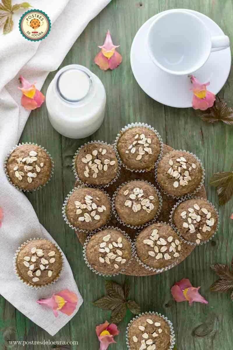 Muffins de calabacin y manzana