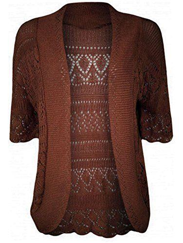 R KON Women¡¯s Crochet Knitted Bolero Top Cardigan Shrug Sweaters ...