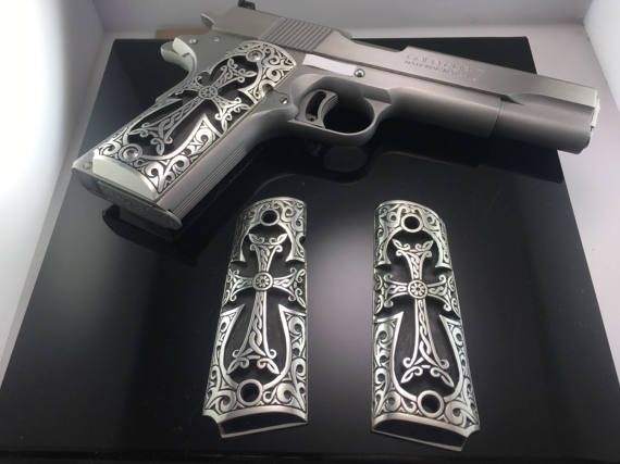 1911 Sterling Silver Gun Grips Colt 1911 0 925 Sterling