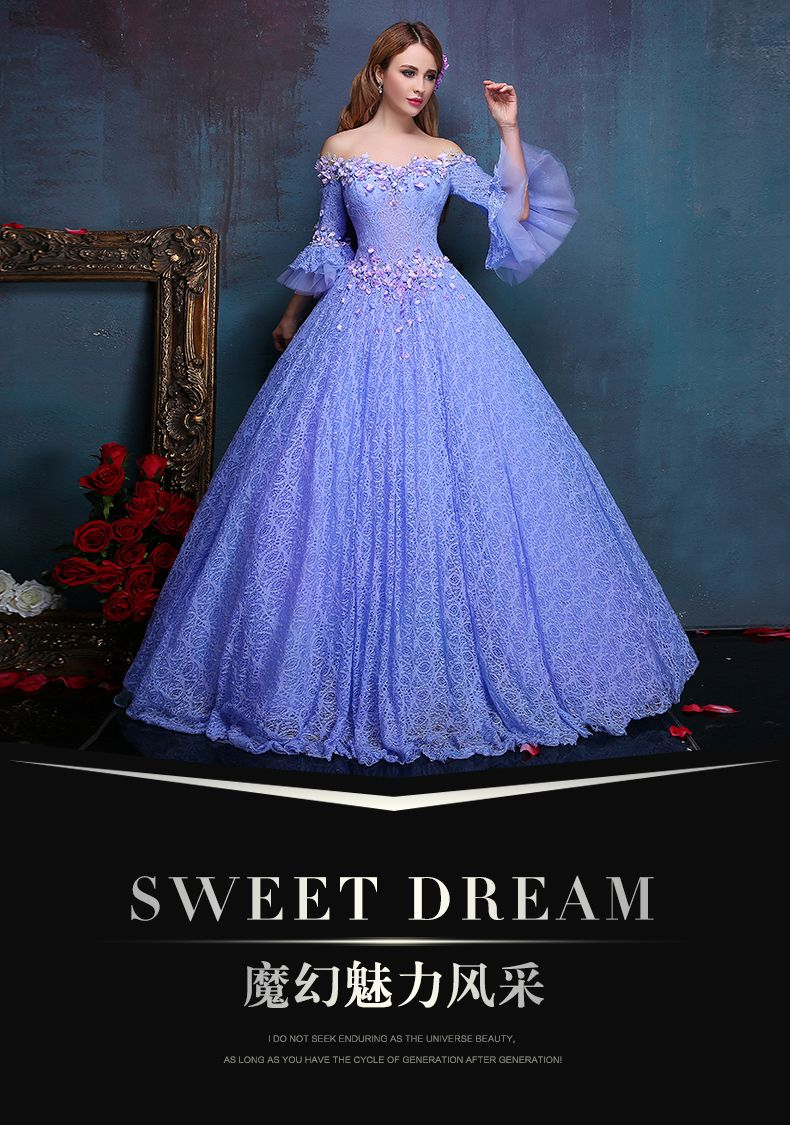 100%real flower embroidery beading light purple lace ball gown medieval  dress princess Renaissance Gown queen Victoria Belle-in Clothing from  Novelty ... e2659672bca2