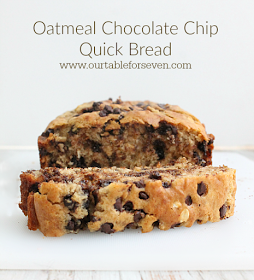 table for seven: Oatmeal Chocolate Chip Quick Bread