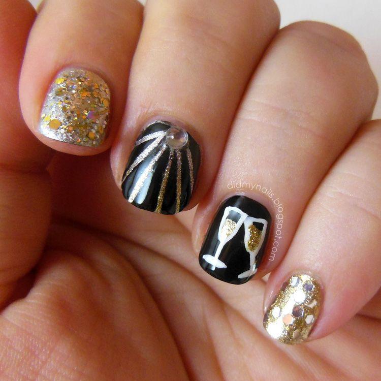 New Year\'s Eve nails | Midnight Magic | Pinterest | Make up, Nail ...