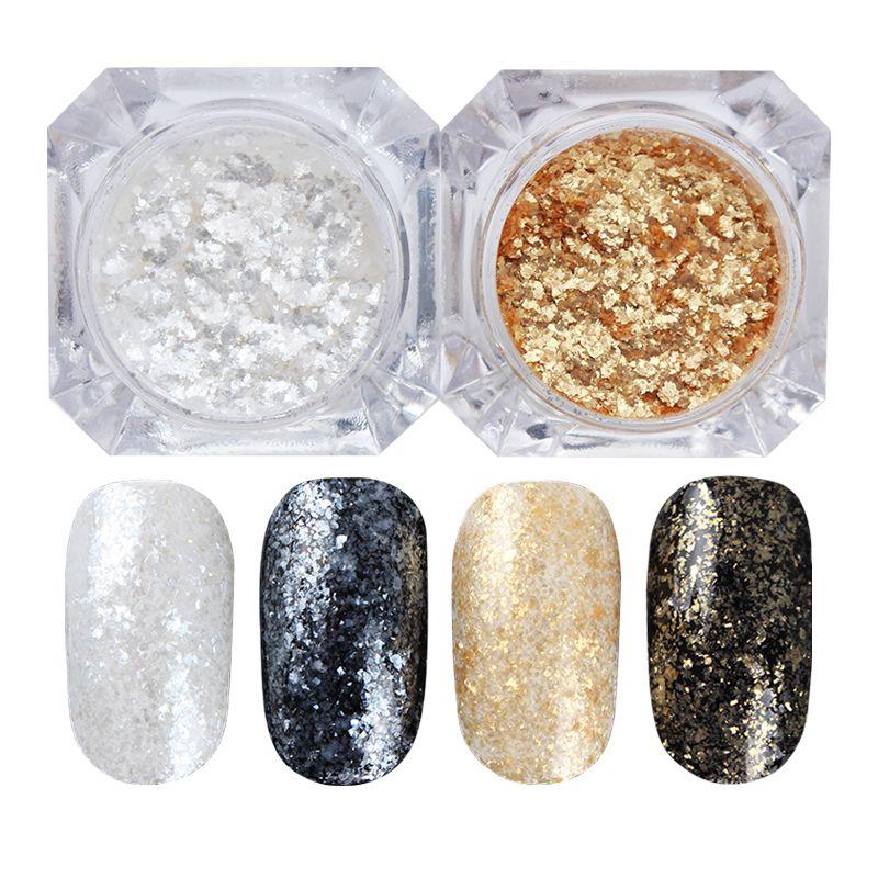 1 Box 1.5g BORN PRETTY Shining Nail Glitter Diamond Powder Gold ...