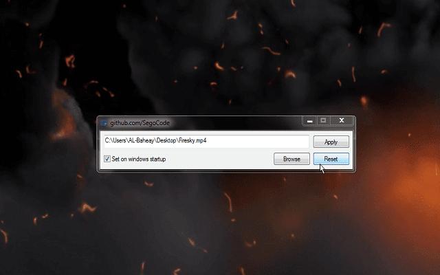 تعيين الصور المتحركة ومقاطع الفيديو خلفية سطح المكتب سؤال وجواب Settings Brose Windows