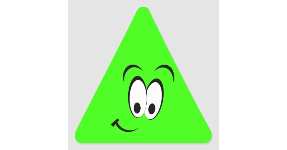 Green Triangle Happy Face Google Search Concept Design Triangle Concept