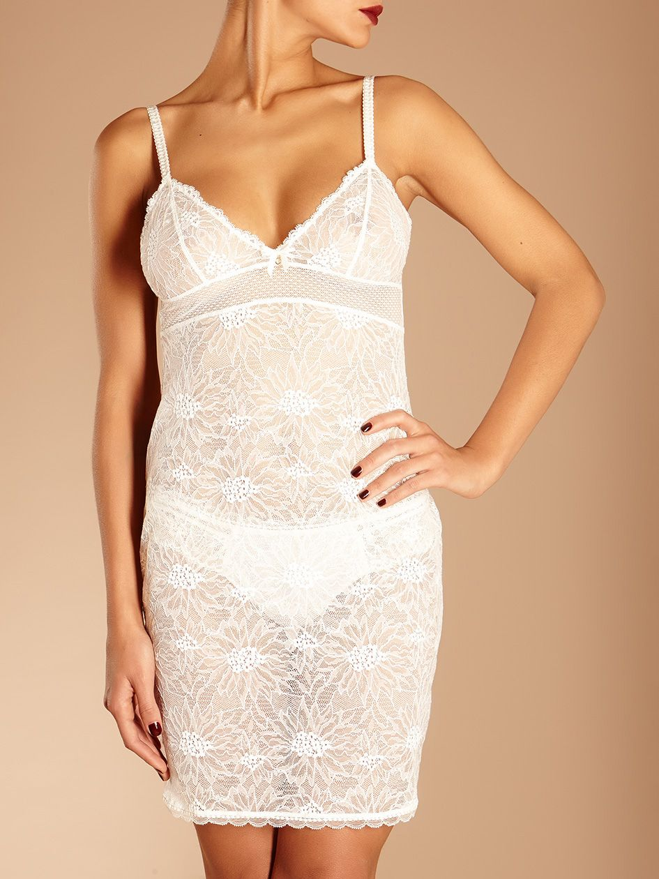 46f80b6037f Chantelle ivory lace chemise - perfect for the wedding day!  bridallingerie   chantelle  nightwear