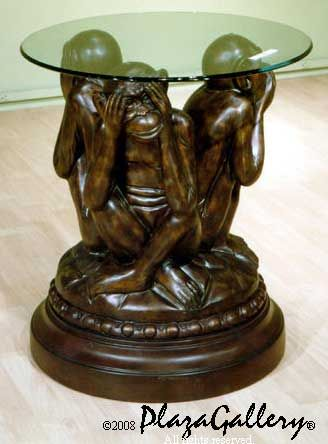 Genial 3 Wise Monkeys Table   See No Evil, Hear No Evil, Speak No Evil (would This End  Table Be Cool In My Living Room Or What?