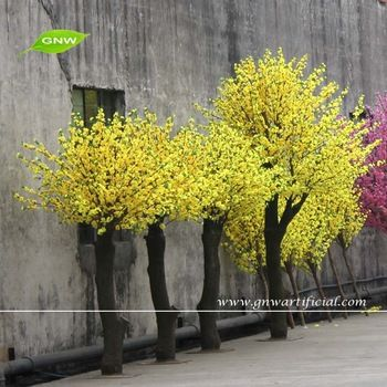 Gnw Bls035 Different Yellow Artificial Cherry Blossom Trees For Decoration Artificial Cherry Blossom Tree Yellow Blossom Yellow Blossom Tree