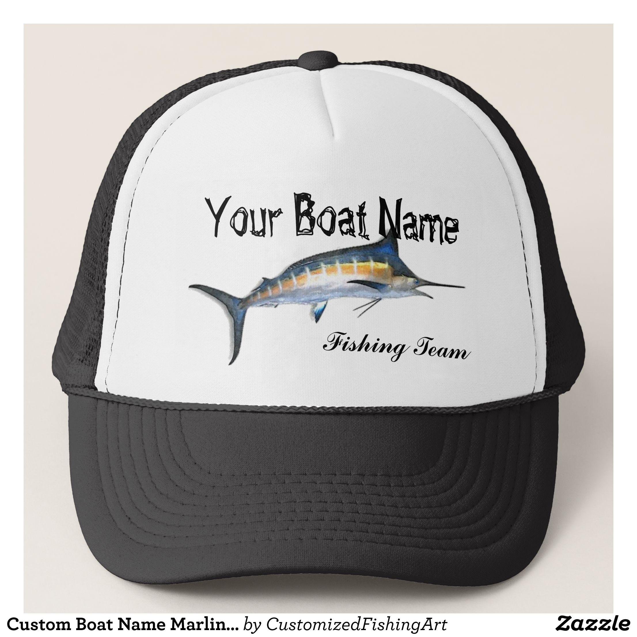 e4b4b4e592c86 Custom Boat Name Marlin trucker hat - Fashionable Urban And Outdoor Hunter  Farmer Trucker Hats By