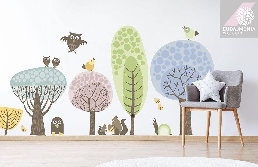 Naklejki Na Sciane Dzieci Las Drzewo Zwierzeta Xxl 7126260530 Oficjalne Archiwum Allegro Baby Room Decals Forest Wall Decals Nursery Wall Decals